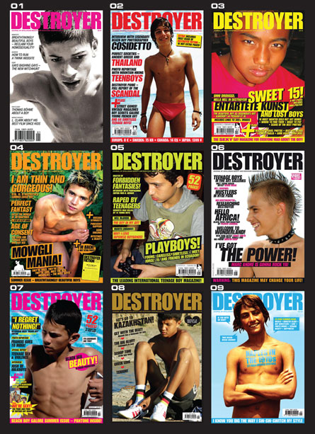 Covers of Destroyer Magazine