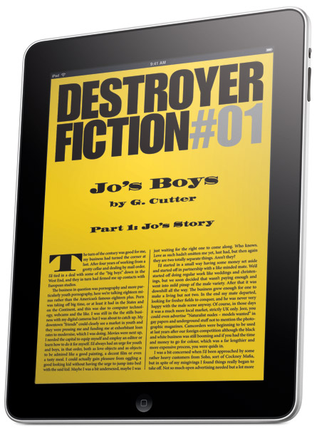 Destroyer Fiction on the Apple iPad