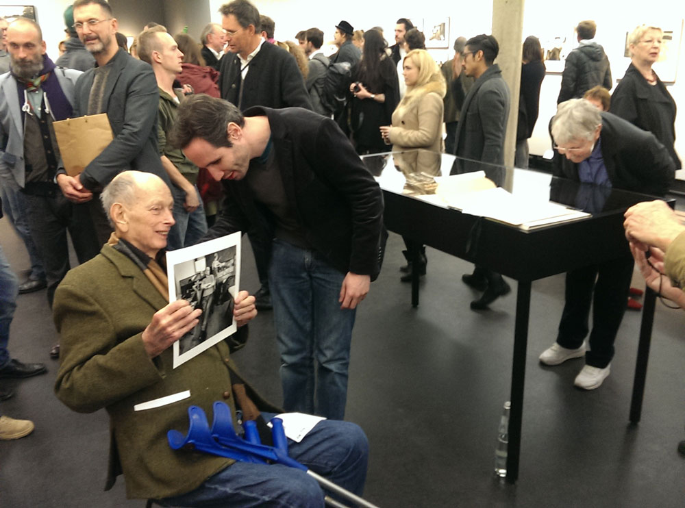 Will McBride at the opening of the exhibition Ich war verliebt in diese Stadt (I fell in Love with this City) at C/O Berlin (30 October 2014, photo by K. Andersson).