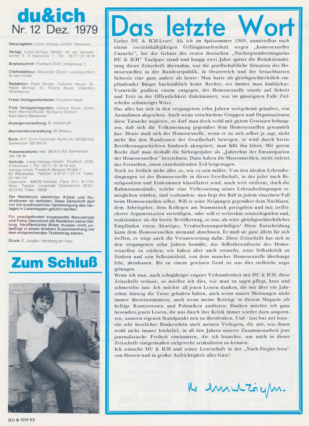 Du & Ich 12, 1979 - Alexander Ziegler