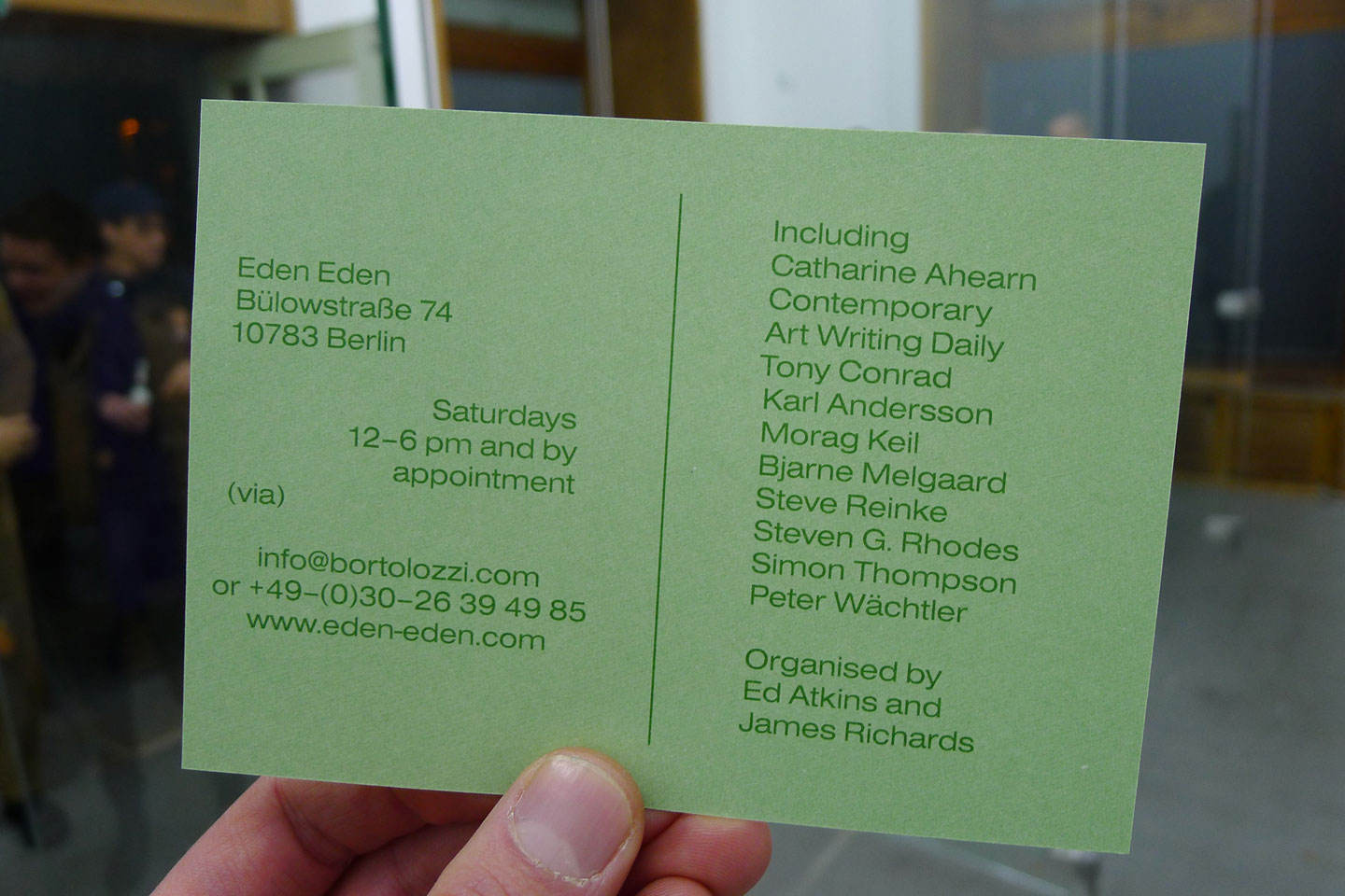 Exhibition credits and info
