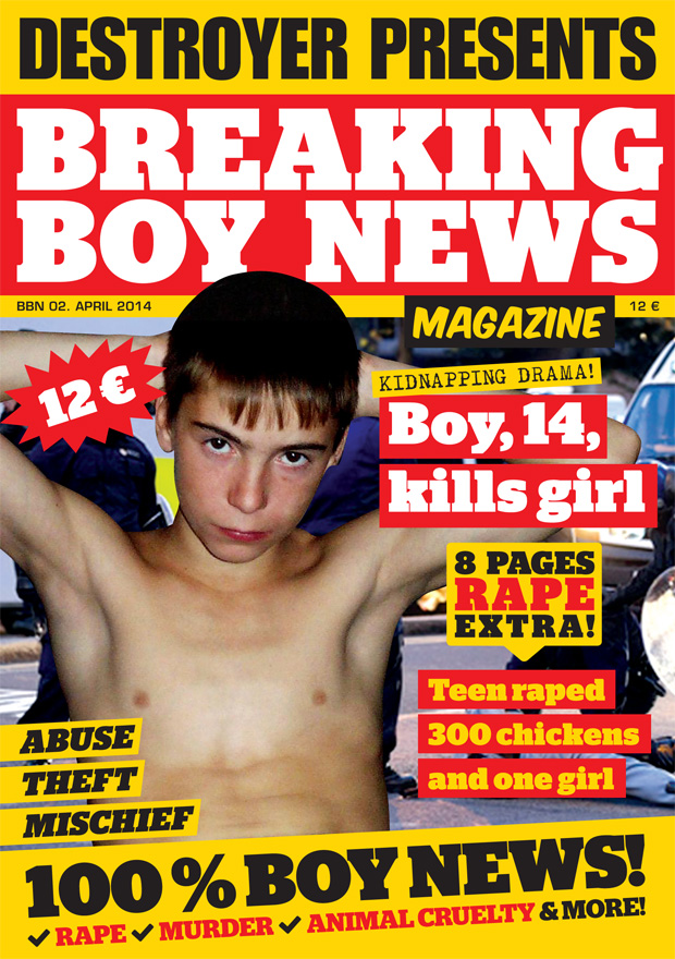 Breaking Boy News Magazine cover art