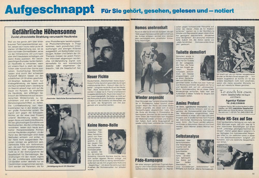 Du & Ich Nr 2, 1979: Aufgeschnappt