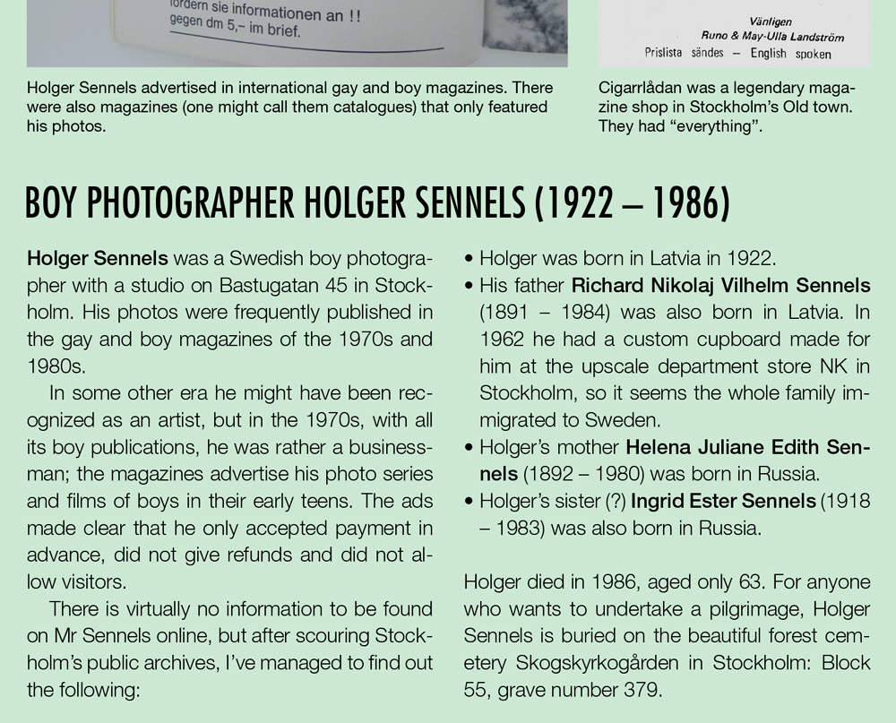 Boy photographer Holger Sennels in Stockholm, Sweden