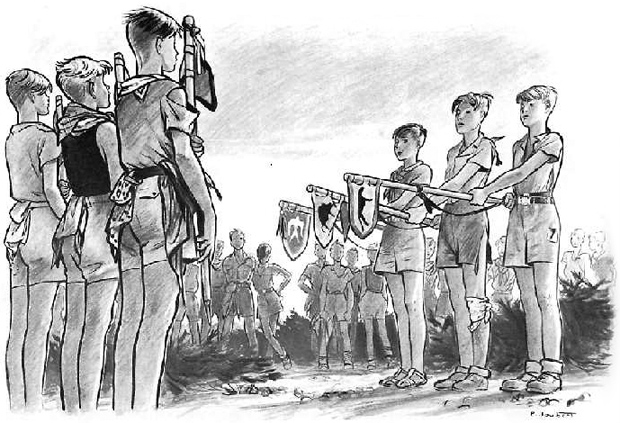 Boy Scouts illustration by Pierre Joubert