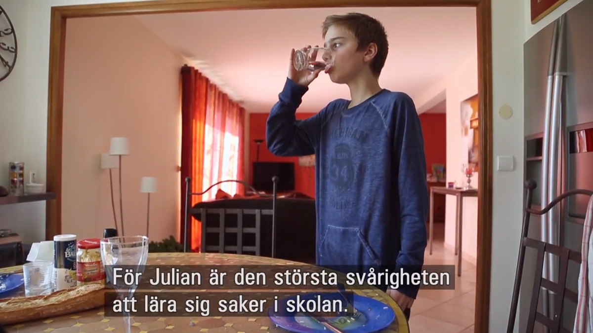 Julian, 12. Screenshot from the documentary.